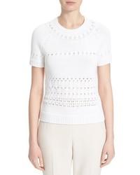 Kate Spade New York Open Stitch Short Sleeve Sweater