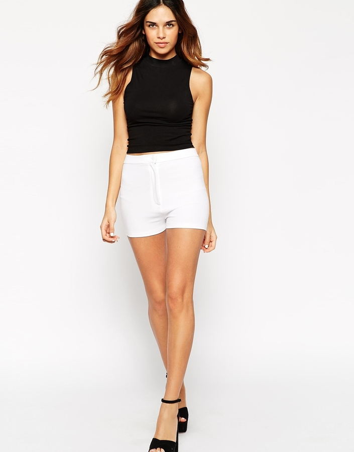 Asos Collection High Waisted Stretch Shorts | Where to buy & how ...