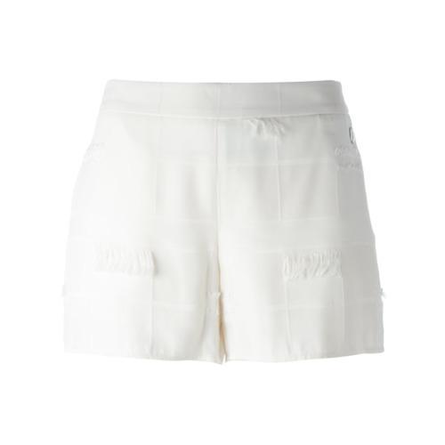 Versace Jeans Frayed Trim Shorts