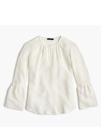 J.Crew Petite Silk Bell Sleeve Top
