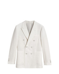 Burberry Linen Silk Double Breasted Tailored Jacket