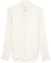 White Silk Dress Shirt