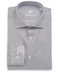 Trim fit diamond grid dress shirt medium 792410