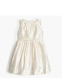 J.Crew Girls Pleated Dress In Silk Dupioni