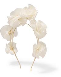 Rosantica Silk Georgette Headband White