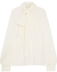 Mulberry Chelsea Pussy Bow Silk Blouse