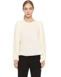 Giambattista Valli Sable Long Sleeve Blouse