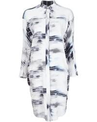 White Silk Shirtdress