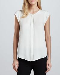 Dimante silk cap sleeve blouse medium 210672
