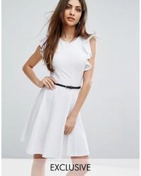 Lipsy Ruffle Sleeve Skater Dress