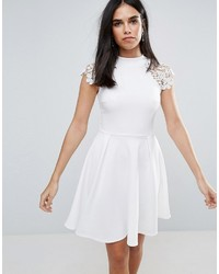 Club L Skater Dress With Lace Detail
