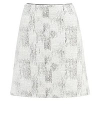 Reiss Viviene A Line Skirt Blackoff White