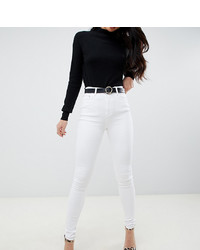Asos Tall Asos Design Tall Ridley High Waist Skinny Jeans In Optic White