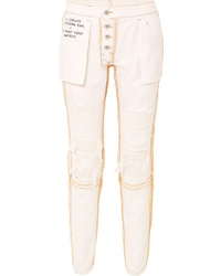 Unravel Project Reversible Distressed Mid Rise Skinny Jeans