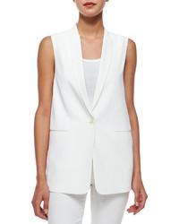 J Brand Ready To Wear Padella Single Button Vest White