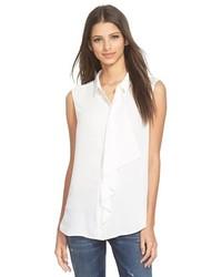 Leith Ruffle Front Sleeveless Shirt