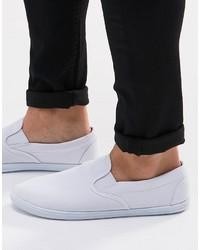 Asos Slip On Sneakers In White