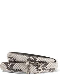 Acne Studios Python Belt Ivory