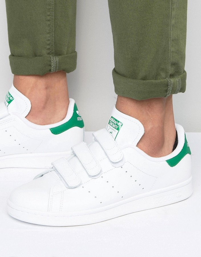 ... adidas Originals Stan Smith Velcro Sneakers In White S75187 ...