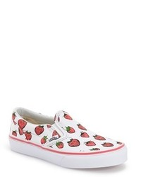 Vans Toddler Girls Classic Strawberries Slip On Sneaker