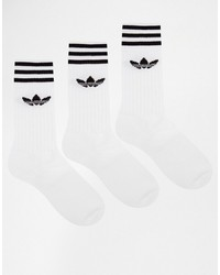 adidas Originals Solid Crew 3 Pack Socks S21489