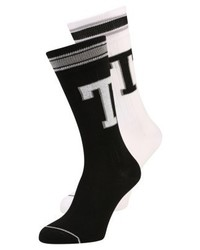 Tommy Hilfiger Patch 2 Pack Socks White