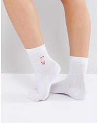 Asos Rocket Embroidered Ankle Socks