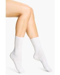 Hue Scalloped Pointelle Socks White 911