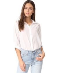 White Star Print Dress Shirt