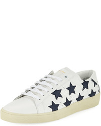 White Star Print Low Top Sneakers