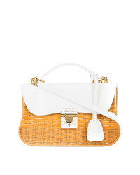 White Straw Crossbody Bag