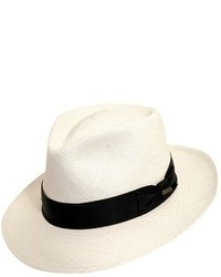 Straw panama hat white medium 563242