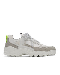 White Suede Athletic Shoes