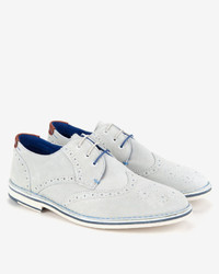 White Suede Brogues
