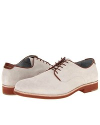 White Suede Derby Shoes