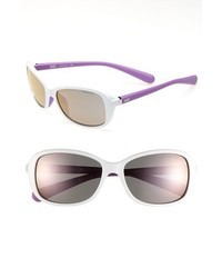 Nike Poise 57mm Sunglasses White Purple One Size