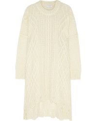 Vionnet Cable Knit Mohair Blend Sweater Dress