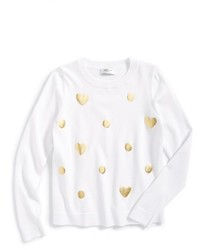 Milly Minis Foil Print Knit Sweater