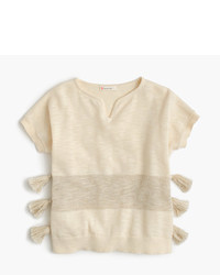 J.Crew Girls Side Tassel Short Sleeve Sweater