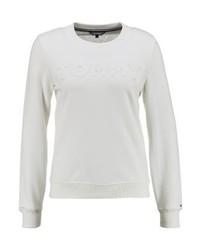 Tommy Hilfiger Embossed Crew Neck Sweatshirt White