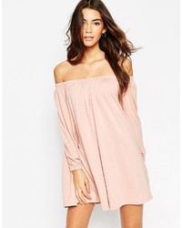 9e1149659f73 ... Asos Collection Swing Dress With Off Shoulder Gypsy Detail ...