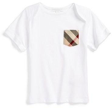 Burberry Callum Check Pocket T Shirt