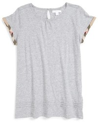 Burberry Girls Gisselle Pleated Cuff Sleeve Tee