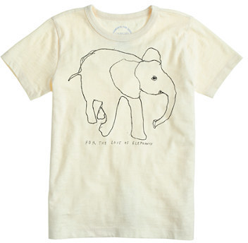 10d1db4eb7b2fd ... J.Crew Kids Crewcuts For David Sheldrick Wildlife Trust Elephant T Shirt  ...