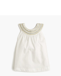 J.Crew Girls Embroidered Summer Tank Top