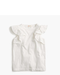J.Crew Girls Flutter Sleeve Tank Top