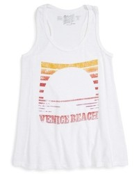 Original Retro Brand Retro Brand Venice Beach Sunset Crop Tank
