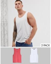 Brave Soul 2 Pack Plain Vest