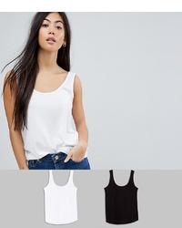 Asos Petite Asos Design Petite Ultimate Vest 2 Pack Save