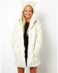 White Textured Coat